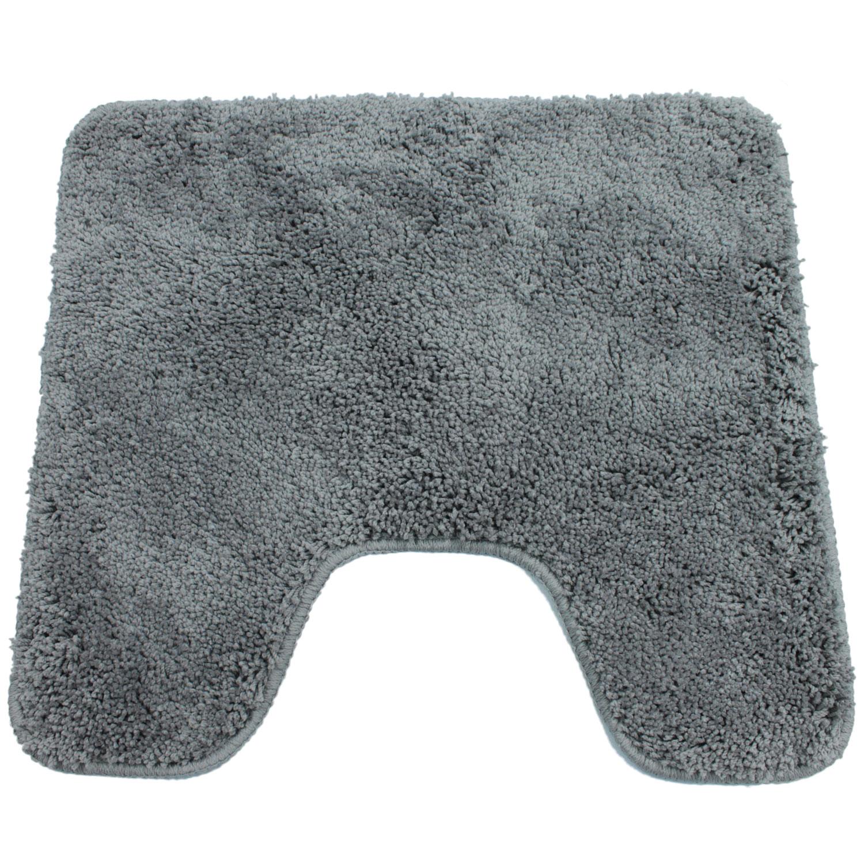 wc vorleger 45x50cm mit ausschnitt badgarnitur badematte badvorleger badteppich ebay. Black Bedroom Furniture Sets. Home Design Ideas