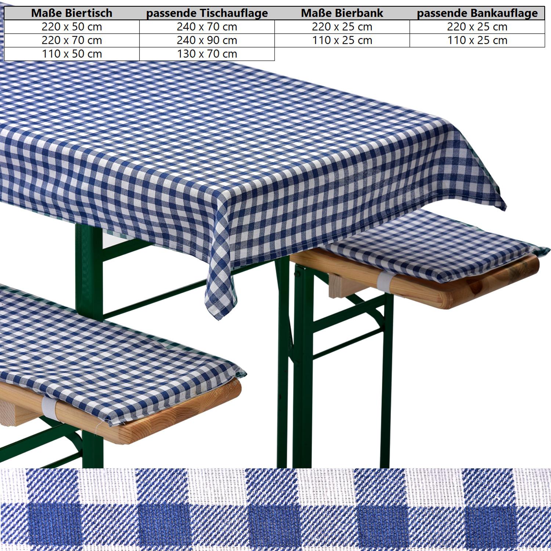 bierbankauflage 3er set kariert tischdecke bankauflagen bierzeltgarnitur ebay. Black Bedroom Furniture Sets. Home Design Ideas