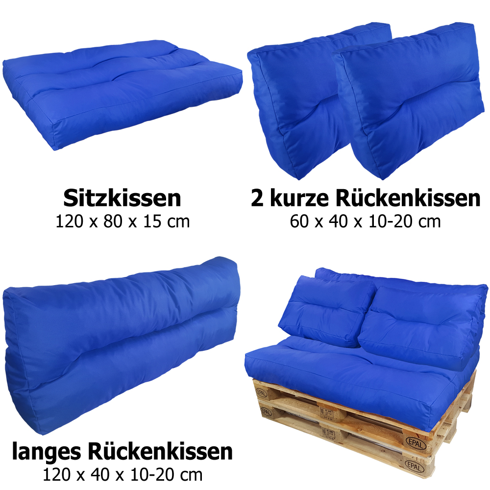 palettenkissen palettenpolster euro paletten sofa auflage sitzpolster sitzkissen ebay. Black Bedroom Furniture Sets. Home Design Ideas