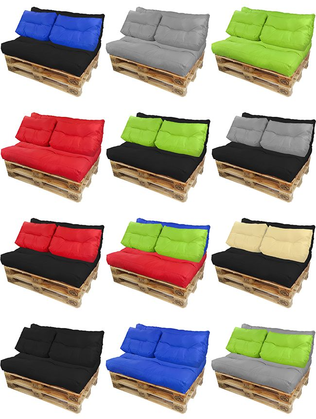 coussins de palette rembourrage pour euro canap dition si ge ebay. Black Bedroom Furniture Sets. Home Design Ideas
