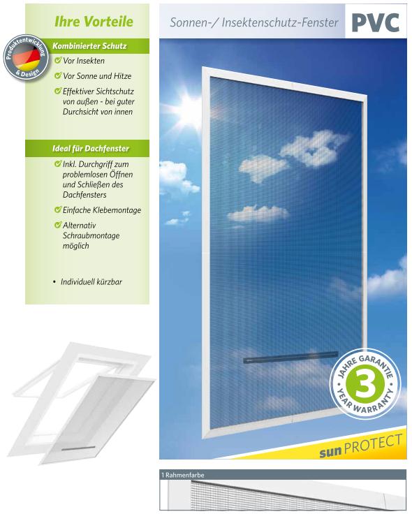easy life insektenschutz sonnenschutz dachfenster 140x170cm klemmrahmen wohnen haushalt. Black Bedroom Furniture Sets. Home Design Ideas